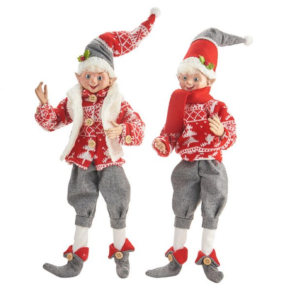 Christmas On Main - 16 Inches Yuletide Gathering Posable Elf