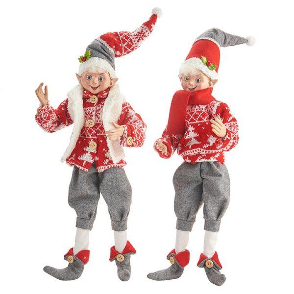 Christmas On Main - 16 Inches Yuletide Gathering Posable Elf