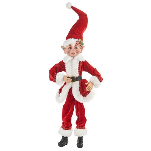 Christmas On Main - 20 Inches Red Posable Elf