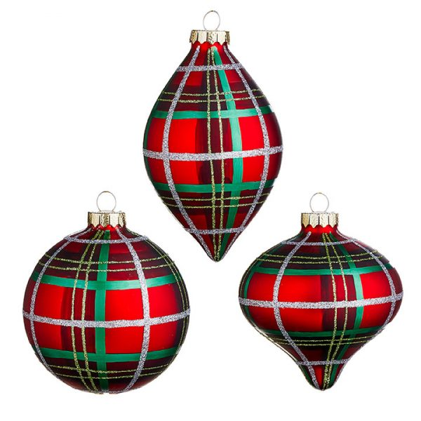 Christmas On Main - 4 Inches Red Green Plaid Ornament