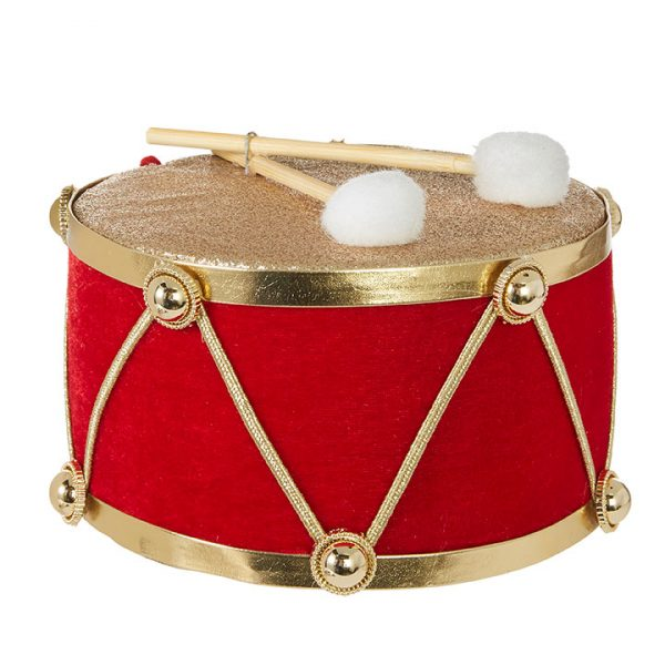 Christmas On Main - 6 Inches Drum Ornament