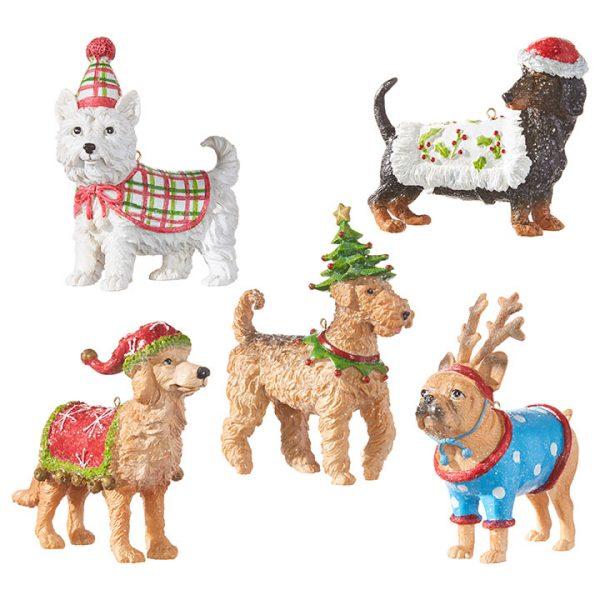 Christmas On Main - Assorted Christmas Dog Ornaments
