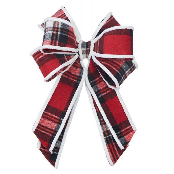 Christmas On Main - Buffalo Plaid Bow Clip On