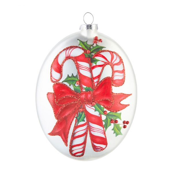 Christmas On Main - Candy Cane Disc Ornament