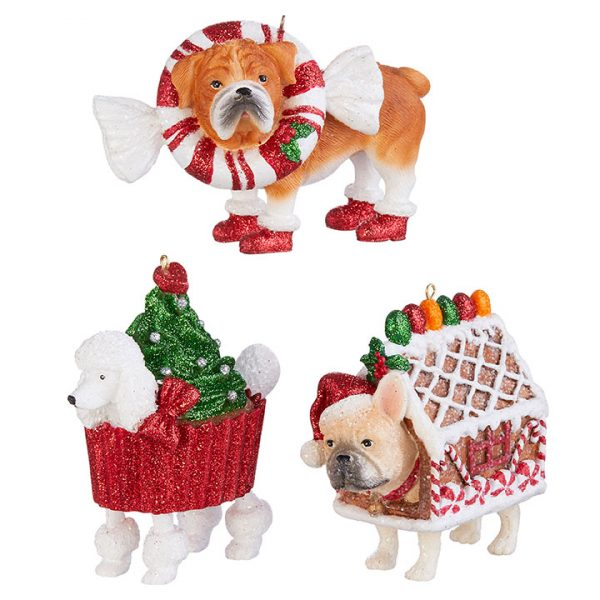 Christmas On Main - Christmas Bakery Dog Ornaments 3Asstd