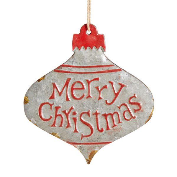 Christmas On Main - Merry Christmas Tin Ornament