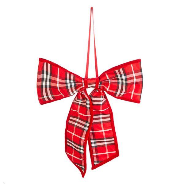 Christmas On Main - Plaid Bow Orn