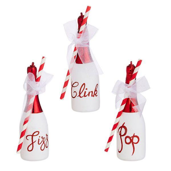 Christmas On Main - Pop Clinck Fizz Bottle Ornament