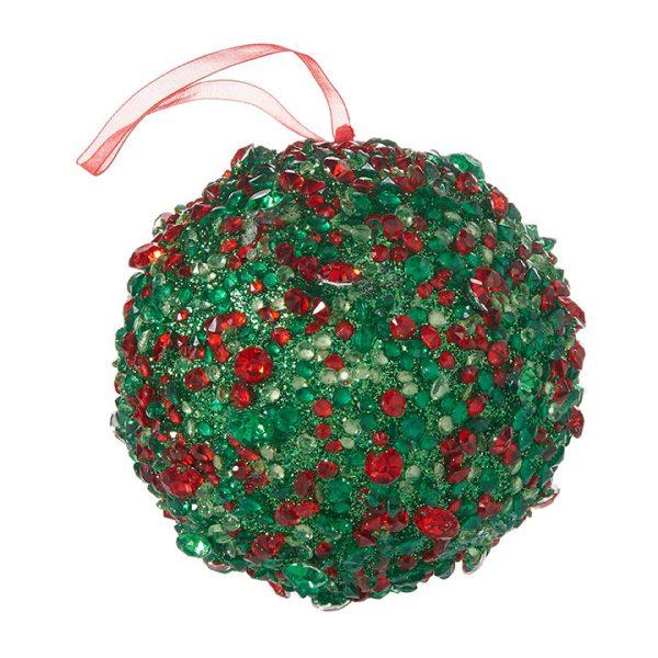 Christmas On Main - Red Green Crystall Ball