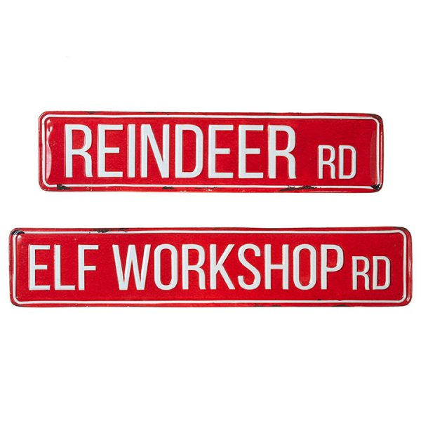 Christmas On Main - Reindeer Rd Elf Workshop Signs