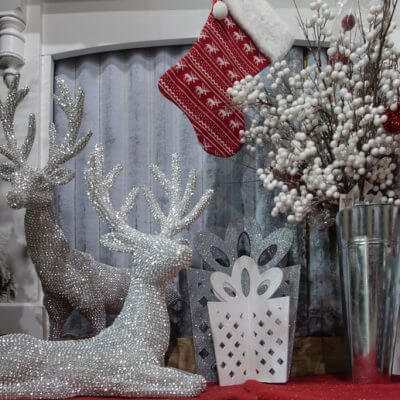 Christmas-On-Main-christmas-decorations-reindeers-table-top-in-store-silver-green
