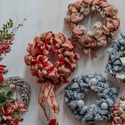 Christmas-On-Main-christmas-wreaths-in-store