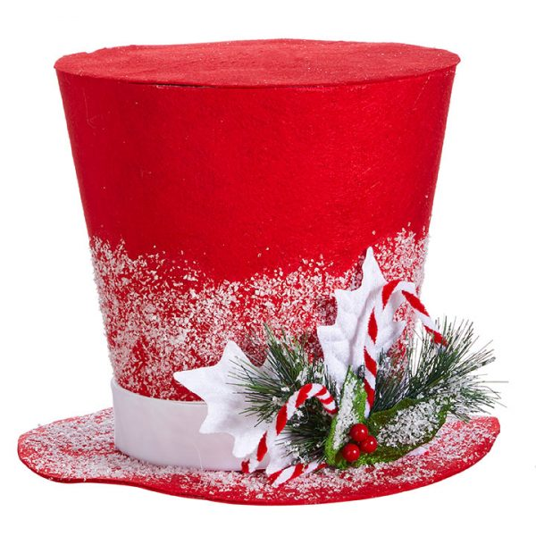 Christmas on Main - 11 Inches Red Top Hat