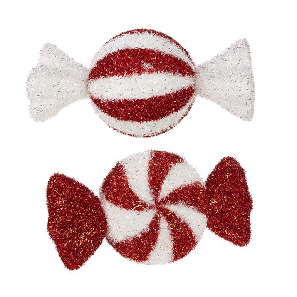 Christmas on Main - 13 Inches Peppermint Candy Ornaments