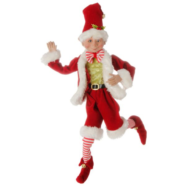 Christmas on Main - 16 Inches Red Poseable Elf