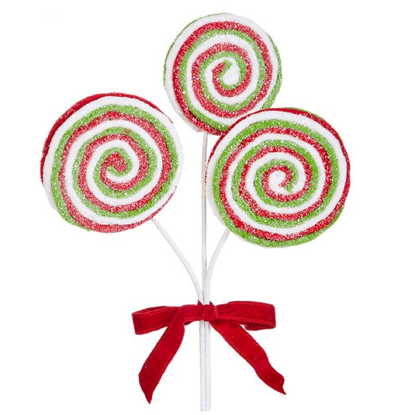 Christmas on Main - 17 Inches Red Green Lollipop Bundle