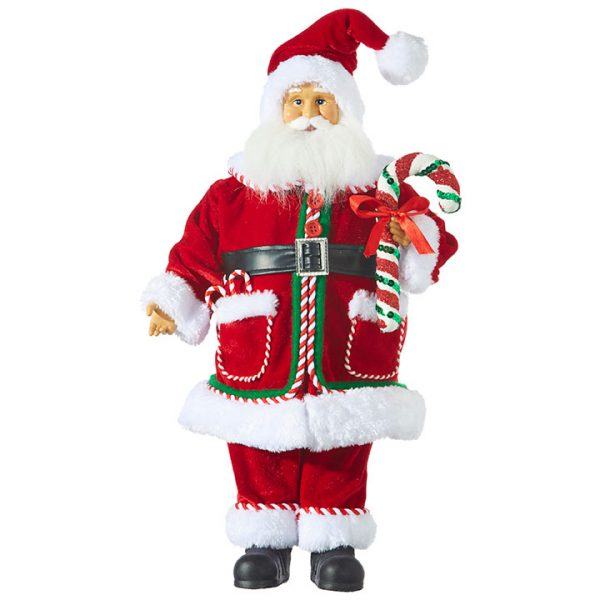 Christmas on Main - 18.5 Inches Santa with Candy cane