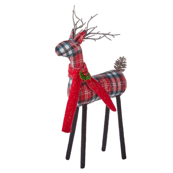 Christmas on Main - 27 Inches Plaid Deer