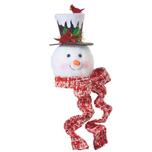 Christmas on Main - 7.5 Inches Snowman Head Ornament