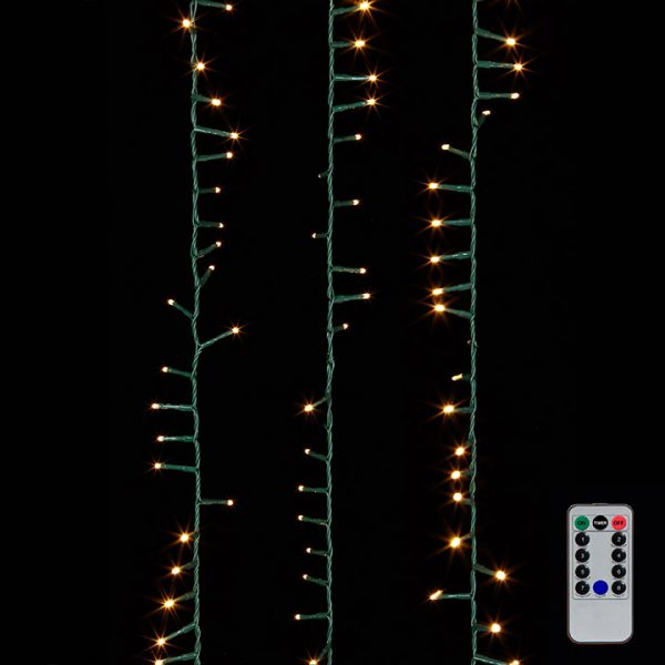 Christmas on Main - 73.8 Inches Snake Garland Green Lights