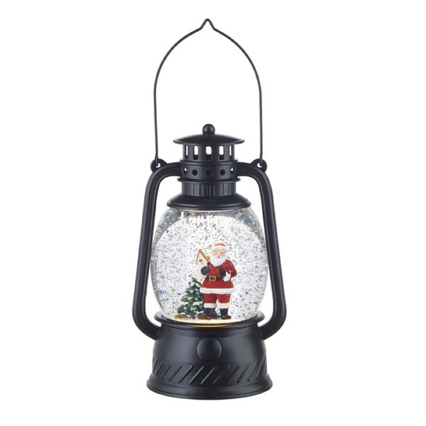 Christmas on Main - 8 Inches Santa Lighted Water lantern