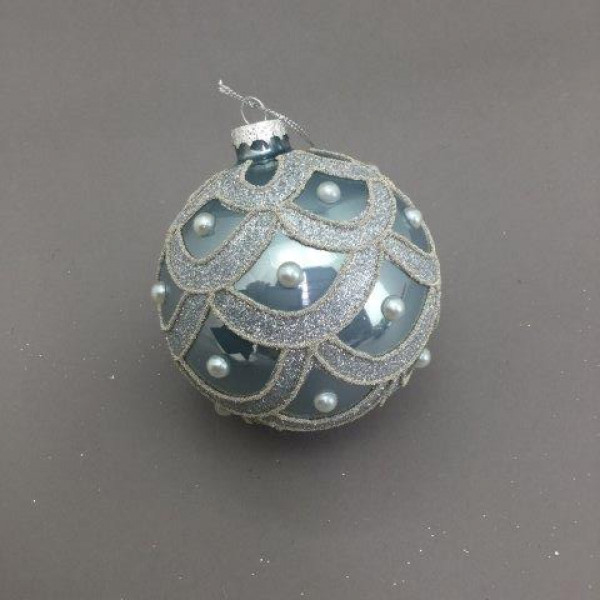 BLUE SILVER BALL HANGING