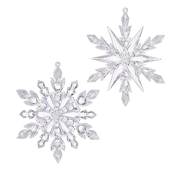 Christmas on Main - Frosted Snowflake Ornament