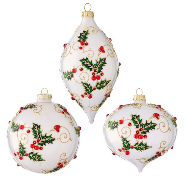 Christmas on Main - Holly Ornaments