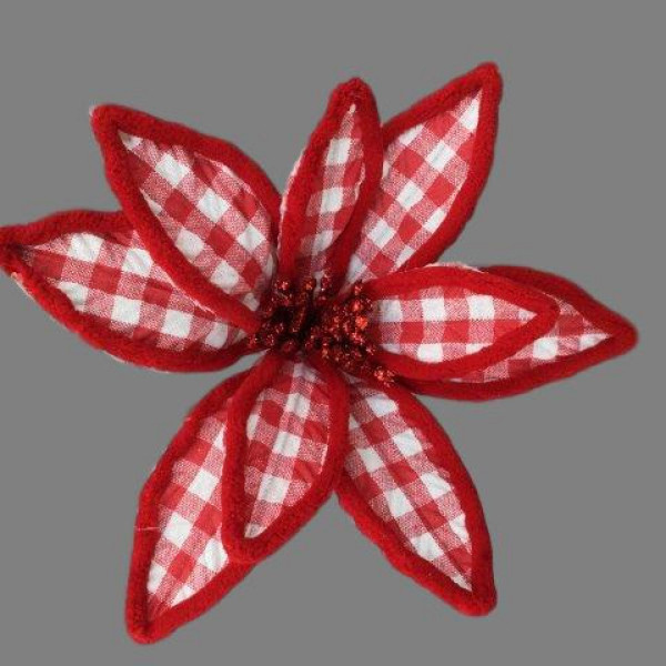 RED GINGHAM POINSETTIA