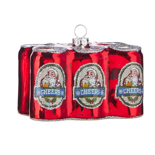 Christmas on Main - Santa Beer Six Pack Ornaments