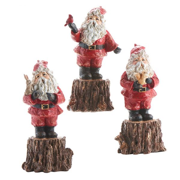 Christmas on Main - Santa On Tree Stump