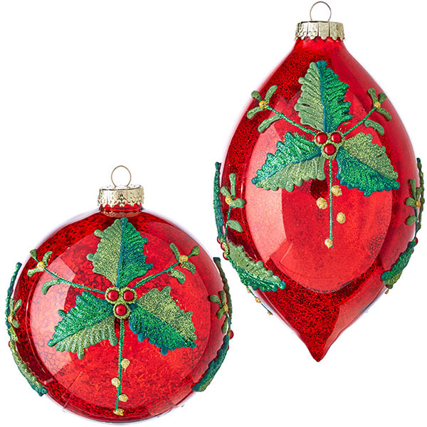 Christmas-on-Main-Red-Holly-Ornaments-Large